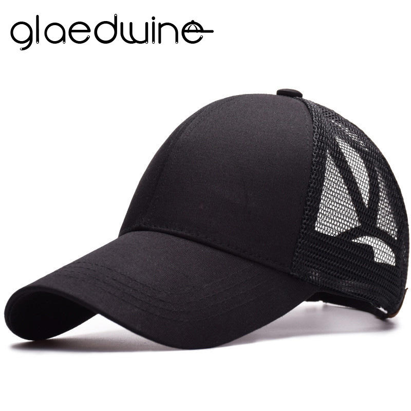 dcccb66d High Quality Summer Hat For Women Ponytail Caps Messy Buns Trucker Plain Baseball  Cap Fashion Snapback Sports Hat gorras