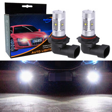 2pcs 9005 LED Bulb Cree Chip Car Lights Day Running Lights Fog Lamp 9005 HB3 LED Auto White 6000K 12V цена