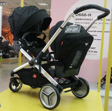Twin stroller 2 data cart multi-function baby carrier adjustment Can match the car seat