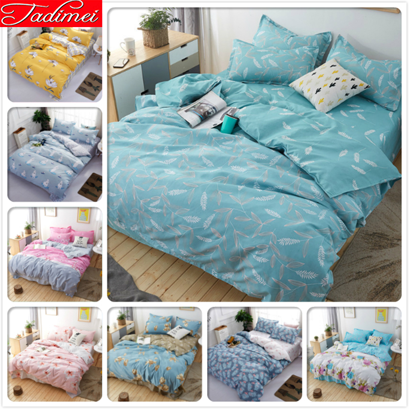 New 3/4 pcs Bedding Set Adult Kids Soft Cotton Bed Linen Single Twin Full Queen King Size Duvet Cover Bedspreads 150x200 180x220New 3/4 pcs Bedding Set Adult Kids Soft Cotton Bed Linen Single Twin Full Queen King Size Duvet Cover Bedspreads 150x200 180x220