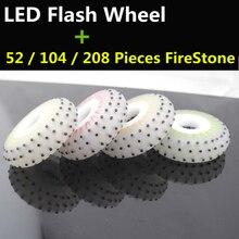 4 шт./партия кремень светодиодный вспышка колеса, 90A Firestone, подшипники для роликовых Инлайн коньков, блестящие Spark роликовые колеса для торможения FSK слалом для SEBA