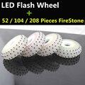 4 Pçs/lote Fogo Pedra Roda Flash LED, 90A Firestone Brilhando Faísca Roda Do Rolo para a Frenagem FSK Slalom Patins Inline para SEBA