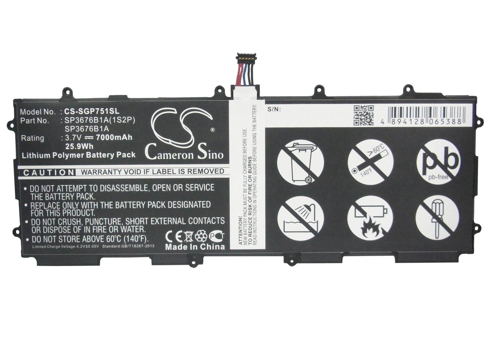 N8010 P5113 Sch-i915 Sgh-i497 Senility VerzöGern N8013 P5100 P5110 P7510 N8000 Gut Ausgebildete Cameron Sino 7000 Mah Batterie Sp3676b1a Für Samsung Gt-7511