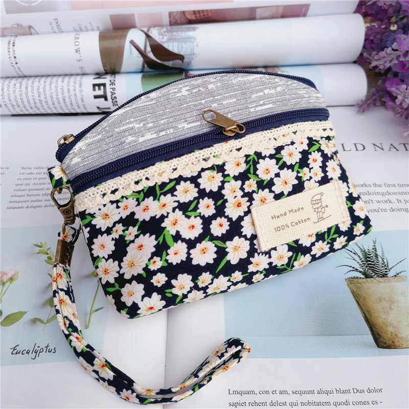 Женские мини сумки на запястье Цветочная сумка с принтом женские клатчи