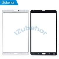 100% de garantía de Color Blanco Frontal Lente de Cristal Superior Para samsung T705 para Galaxy Tab S 8.4 pulgadas LTE SM-T705 Por El Envío Libre