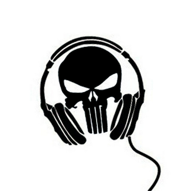 Reflective Ghost Headset Skull Funny Car Styling Whole Body Decal