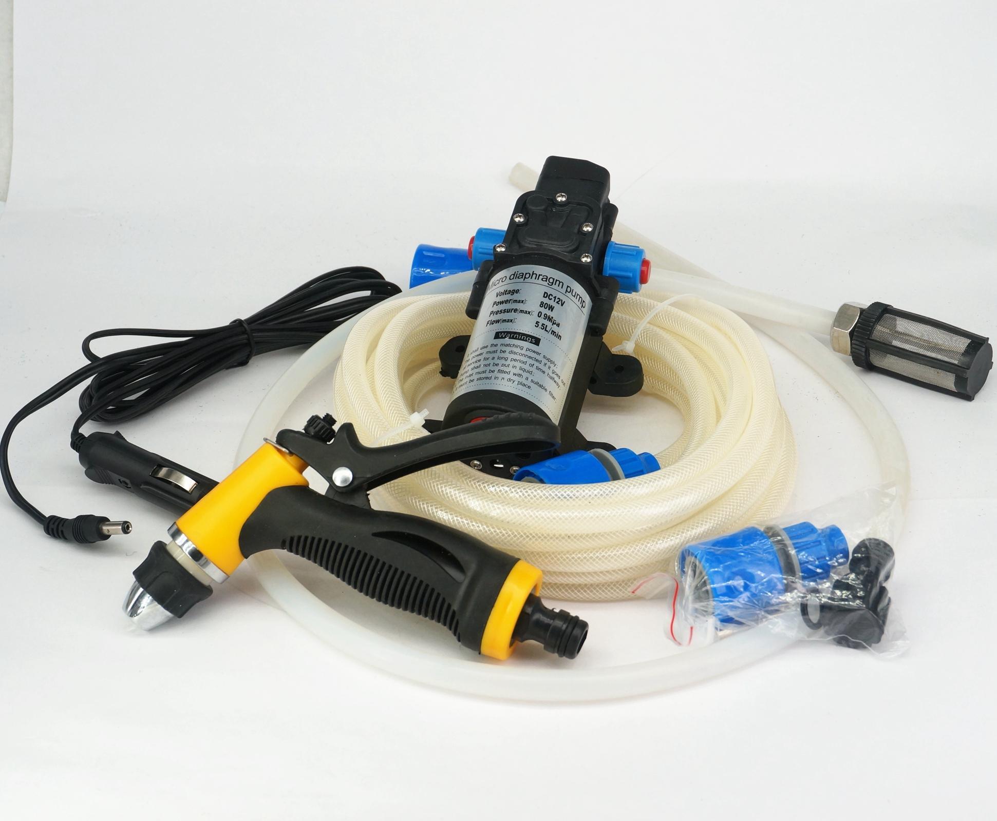 DC 12 V 80 Watt Tragbare Elektrische Auto Reiniger Waschen Werkzeug-set 330L/H 129 PSI