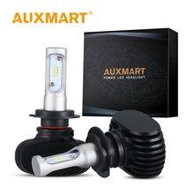 Auxmart H4 H7 H11 светодио дный лампа фары HB3 9005 HB4 9006 светодио дный лампы Авто 50 Вт 8000lm 6500 К светодио дный автомобиль свет светодио дный фары комплект H 4 11 7