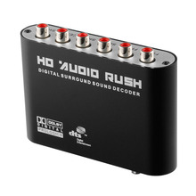 Big sale Aikexin 5.1 Audio Digital Sound Decoder DTS/AC3 Optical Toslink to 5.1 Analog RCA Stereo Surround HD Audio Rush for HD Players