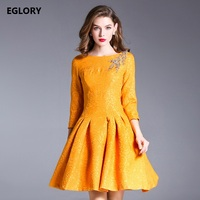 New Ever Pretty Dress For Women 2017 Autumn Winter Party XXL Ladies Crystal Beads ALine Vintage
