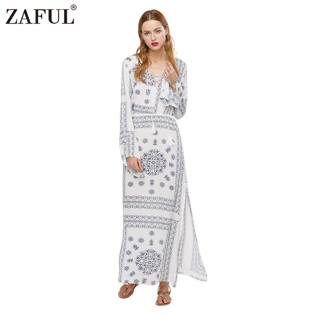 Maxi Dress Ethnic Print
