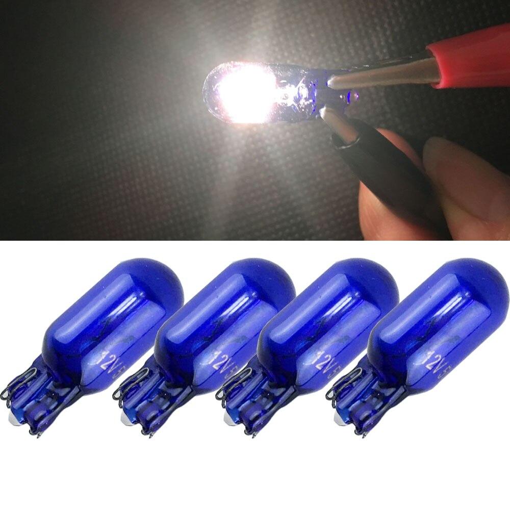 NEWM Autolight Store 4x Car T10 Halogen Bulbs For Marker Clearance Light Auto Lamp W5W 158 168 194 W5W W5WB Wedge Light