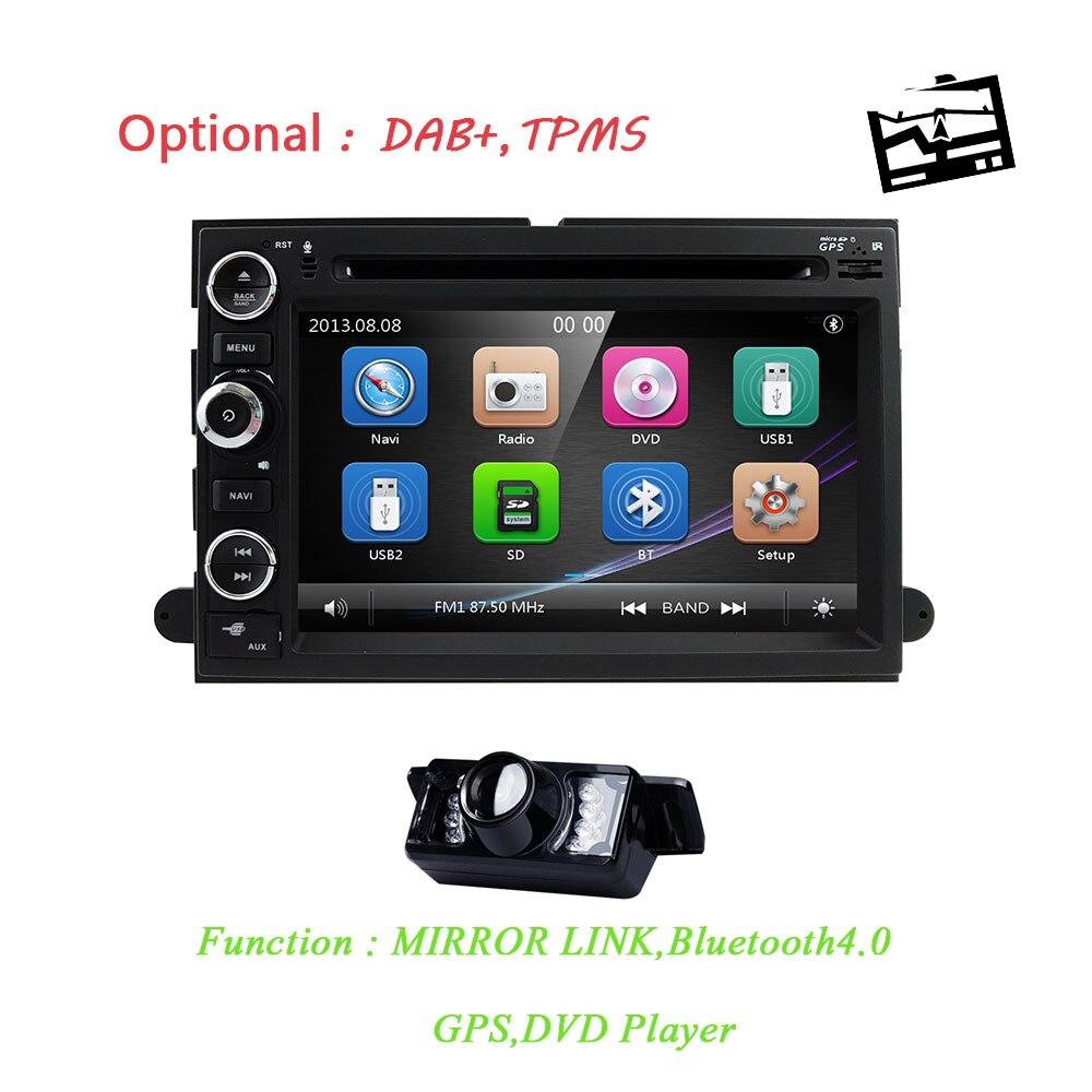 Pour Ford F150 F-150 F250 F-250 F350 F-350 F450 F-450 F550 F-550 dans le tableau de bord Navigation GPS Double 2 Din unité de tête DVD voiture lecteur CAM