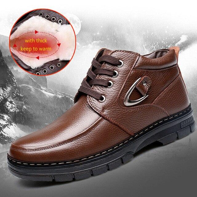 2016 Wintre Nuevos hombres Zapatos Casuales Tendencia de la Moda antideslizante Botas de Los Hombres calientes Atan Para Arriba Botas de Algodón Resistente Al Desgaste Masculina Mantener Caliente