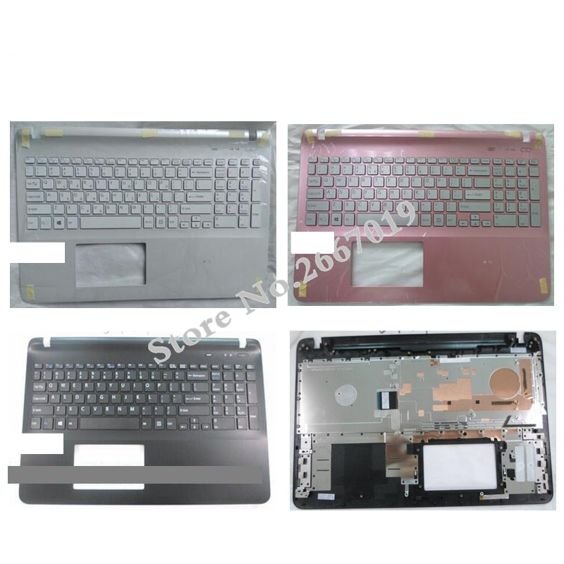 US New with Palmrest Cover for sony Vaio SVF15 SVF152 FIT15 SVF151 SVF153 SVF1541 SVF15E laptop keyboard without Backlight for sony vpceh35yc b vpceh35yc p vpceh35yc w laptop keyboard
