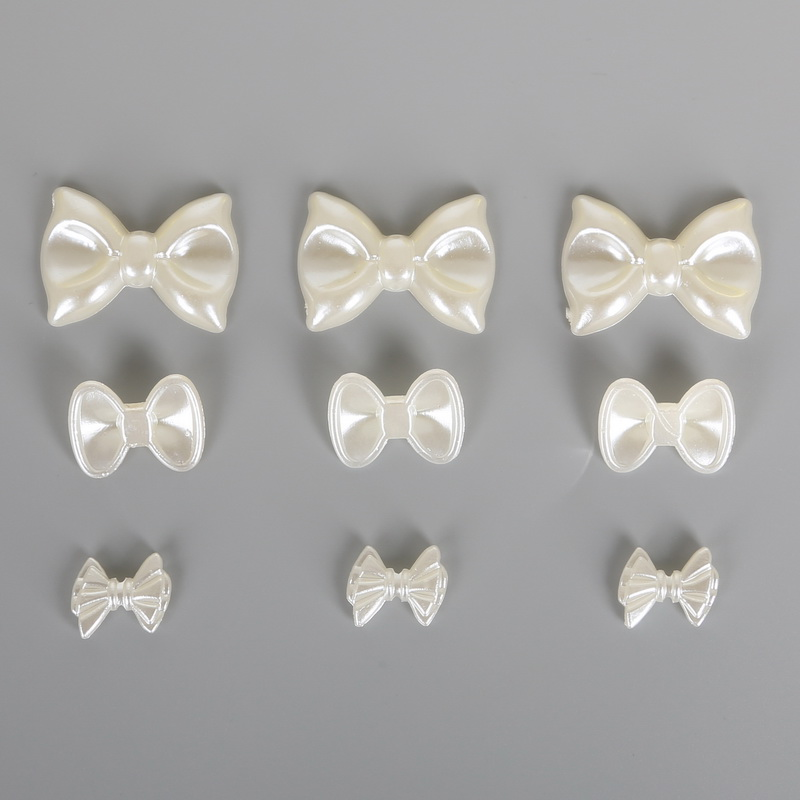 Слоновая кость Бабочка бусины накладные клейкие ногти ABS имитация жемчужное ожерелье ремесла украшения Скрапбукинг