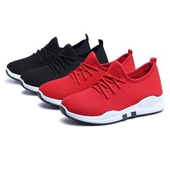 Sneakers  pour femmes à lacets baskets de course respirant maille femmes Fitness Gym