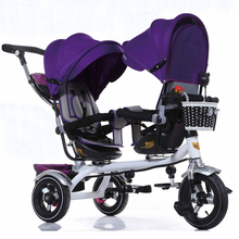 Высокое качество карбоновая стальная рама трехколесный велосипед 3 надувные резиновые колеса двойное сиденье трехколесный велосипед с вращающимся сиденьем