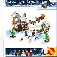 JJRC Winter Christmas Building Blocks X MAS Gift 3D Educational Kids Bricks DIY Assembly Classic Christmas