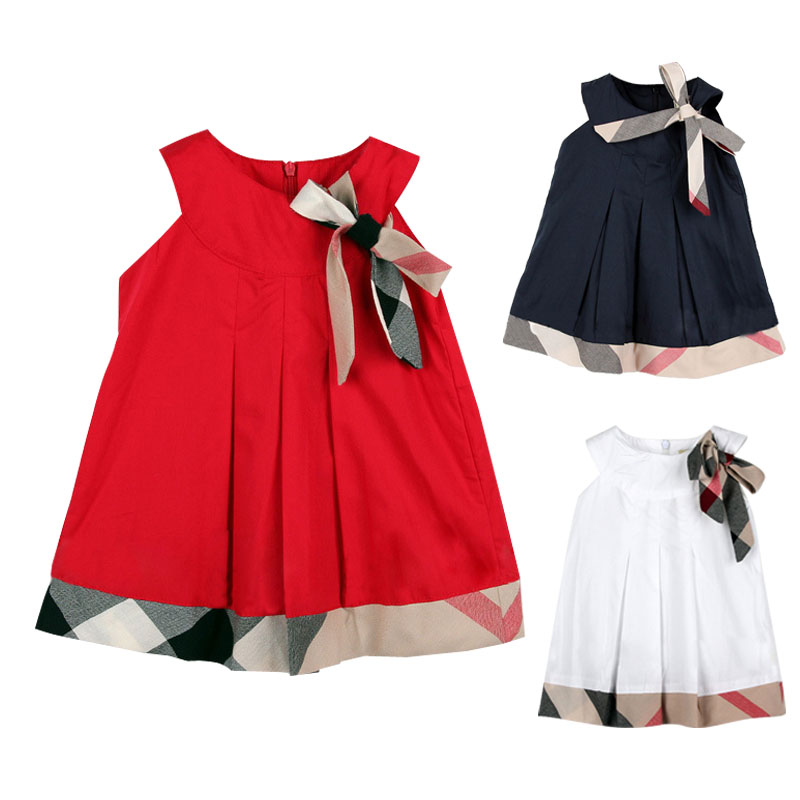 Design Kid Clothes | Hot Sale 2016 Baby Girl Sleeveless Cotton Dresses Spliced Design
