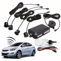 Lowest Price Universal 4 Parking Sensors Car Auto Reverse Backup Rear Radar System Kit Sound Alert Alarm Indicator Probe Black