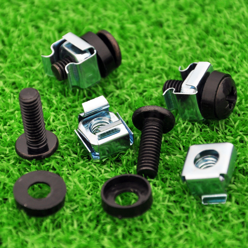 M6 Screws (screw+washer+cage Nut) Cabinet Rack Mounting Fixing Screws