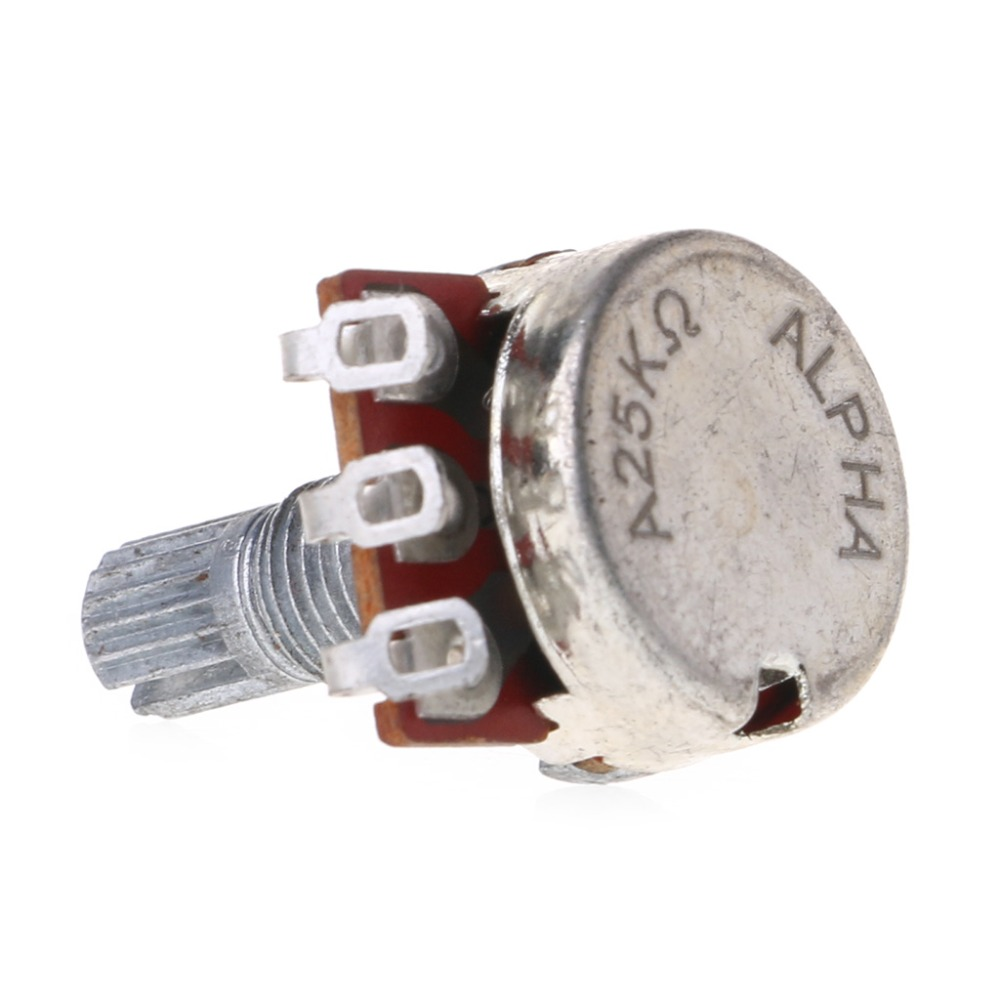 US $0 16 25% OFF|A25K Electric Bass Guitar Potentiometer Pot Effect Pedal  18mm Shaft Parts-in Guitar Parts & Accessories from Sports & Entertainment