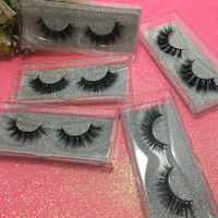 10 Pairs Lot 3D Mulited Length False Fake Lashes 3D Strip Lashes Natural Look Real Mink
