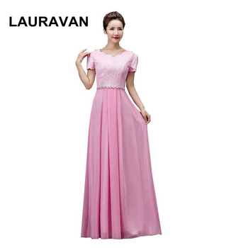 new arrival 2020 womens formal special occasion pink red blue party dresses long chiffon a line evening dress women gown
