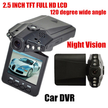 NEW car DVR 2.5 inch HD LCD 6 LED Car Video recorder Full HD Car video recorder camcorder 120 degree wide angle image