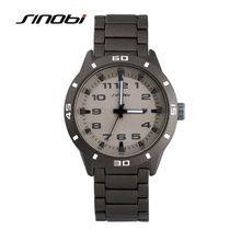 SINOBI Sports Casual Men s Wrist Watches 5bar Waterproof Stainless Steel Watchband Males Geneva Quartz Clock