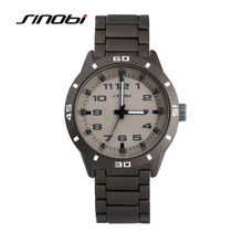 Sinobi 5bar esportes casual relógios de pulso dos homens pulseira de aço inoxidável à prova d' água homens relógio de genebra quartzo montres hommes g15
