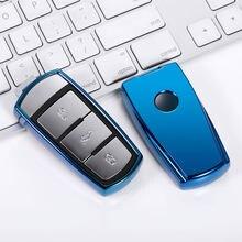 Caso della copertura chiave dell'automobile di TPU per Volkswagen VW CC Passat B6 B7 Passat 3C CC Maogotan Auto Auto Key Cover Car Styling accessori