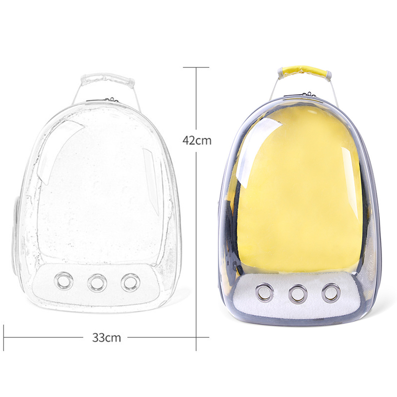 Wholesale 360 Sightseeing Creative Capsule Transparent Pet Backpack Puppy Carrier Travel Bag Airline Approved For Puppy Cat Dog  My Pet World Store