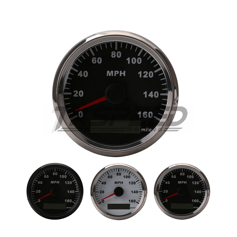 все цены на FREE SHIPPING GPS 12V 24V Universal MPH Speedometer Gauge Odometer Black or white Background For ATV UTV Motorcycle Marin онлайн