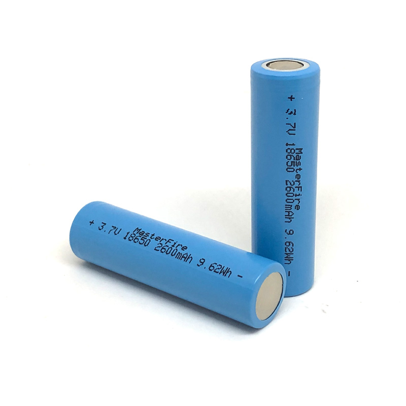 18pcs lot MasterFire 18650 2600mah 3 7V 9 62Wh Li ion Rechargeable Battery Lithium Batteries For Flashlight Torch in Rechargeable Batteries from Consumer Electronics