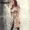 Мода Долго Пальто Для Женщин Осень-Весна Тренчи Верхняя Одежда Свободные Пальто Gabardina Mujer Траншеи HO851770