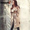Moda Longo Casaco de Trincheira Para As Mulheres Primavera Outono Trench Coats Outerwear Solto Casaco Gabardina Mujer Trincheira HO851770