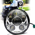 1PCS 5.75 INCH Round LED Projection Daymaker Headlight Hi / Lo Beam 6000K White Headlight for Harley Motorcycles