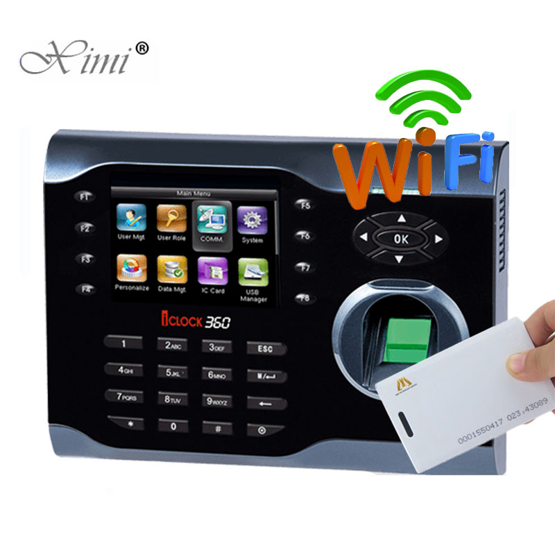 ZK Iclock360 Linux System Biometric Fingerprint And 125KHZ RFID Card Time Attendance With WIFI TCP/IP Time Recorder Time Clock