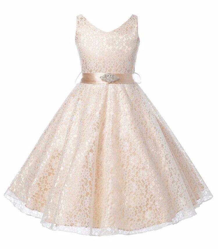White Tutu Mesh Costume 2019 Kids Birthday Princess Party Dress for Girls Infant Lace Children Bridesmaid Elegant Dress