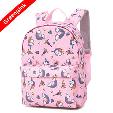 fea3d7e2a7e58 Dzieci torba moda różowe dziewczyny torby szkolne wysokiej jakości Oxford  Cute Animal Prints dzieci szkolne plecak