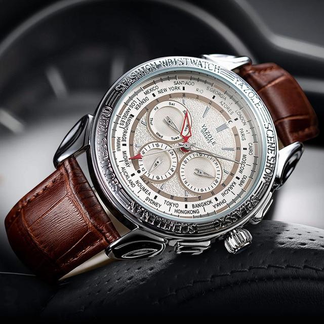Men Watches 2019 YAZOLE Top Brand Luxury Fashion Sports Watches Men Vintage engraving Watches Quartz Hodinky Relogio Masculino