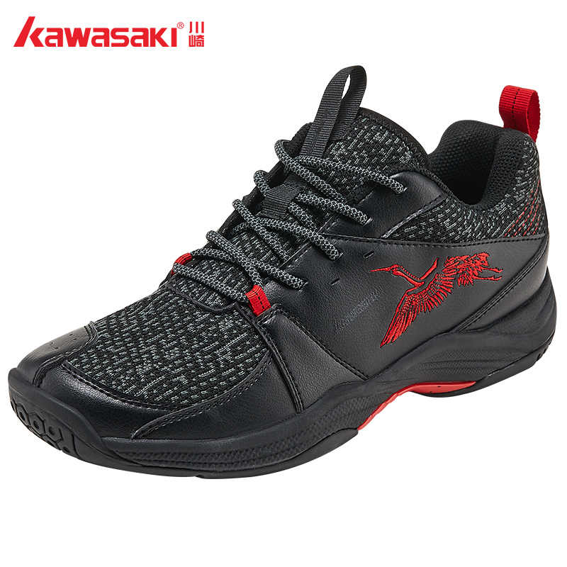 New Arrival Kawasaki Badminton Shoes Ultra Light Black Sport Sneakers K858d