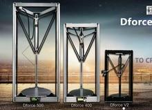 D-force 400 parallel arm large delta delta 3D printer beyond Rostock kosse