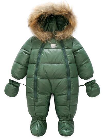2017 hot sell winter cold-proof warm Baby Romper Duck Down High quality Outdoor Coveralls Newborn Baby Girls Snowsuit