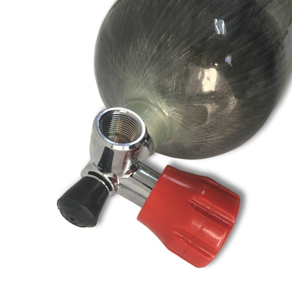 ACECARE противопожарные дыхательные аппараты оборудование Воздушный бак 6.8L HP 4500PSI газовый баллон из углеродного волокна с воздушным клапаном