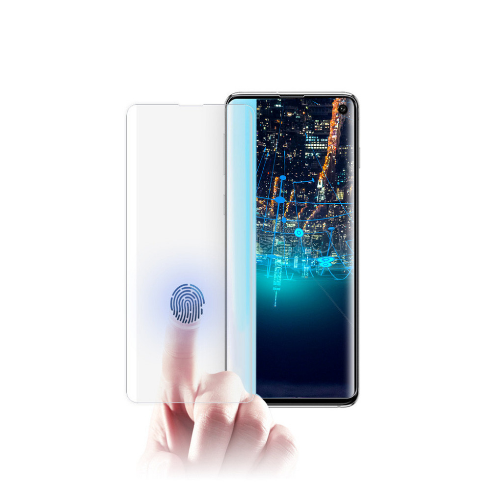 For Samsung Galaxy S10 Screen Protector Tempered Glass Screen Fingerprint Recognition Film Light Transmission Protector FilmP4