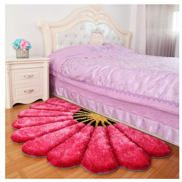carpet for bedroom. 80X150CM Thicken Sector Carpets For Bedroom Modern 3D Flower Rugs And  Sofa Floor Mat Children