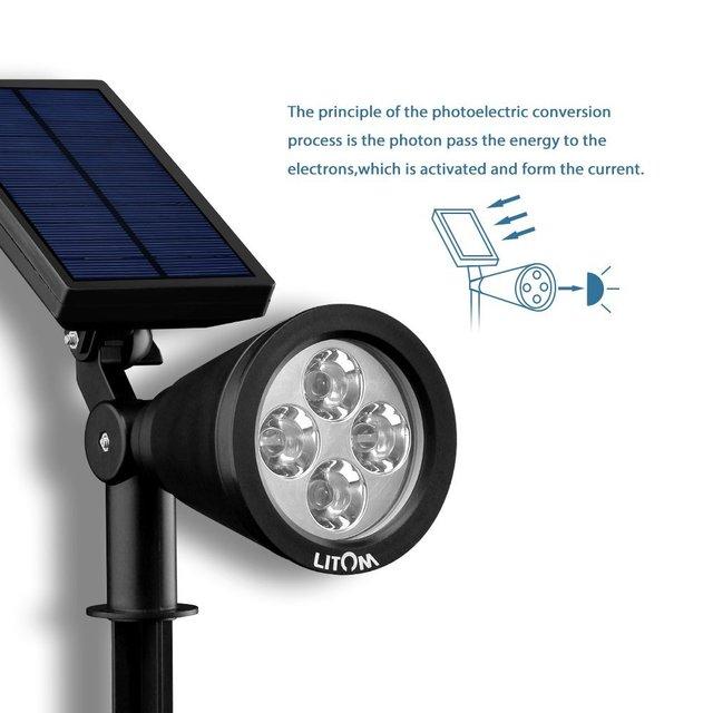 Wireless Super bright Solar Powered Spotlight Build in Auto on/off ...
